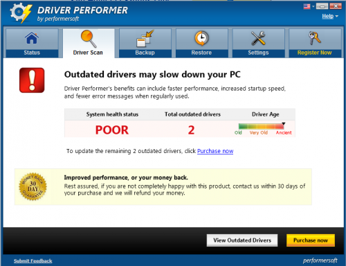 remove driver performer