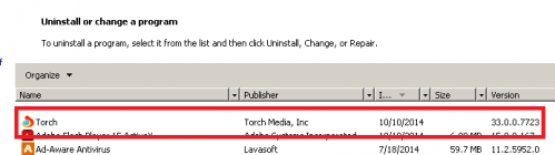 How To Remove Torch Web Browser   Adaware