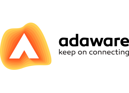 adaware logo with slogan