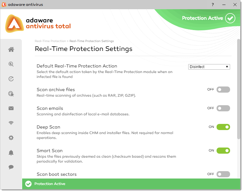 Advanced Settings of Real-Time Protection
