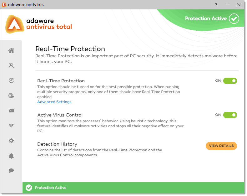 Real-Time Protection window