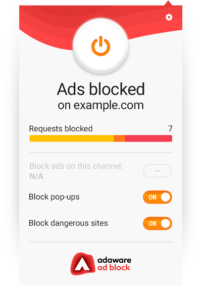 ad block user interface