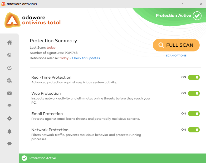 adaware antivirus total screenshot