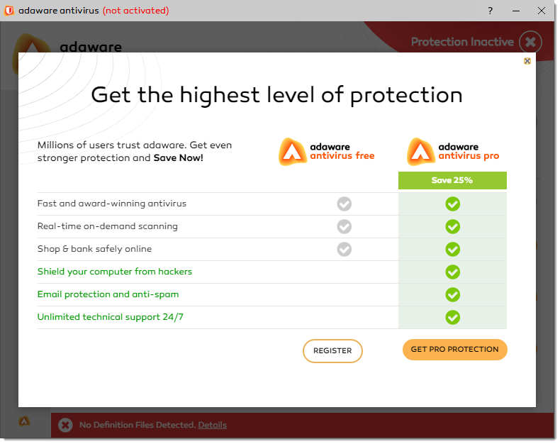 Get the Highest Level of Protection window