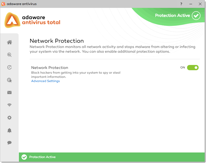 Network Protection window