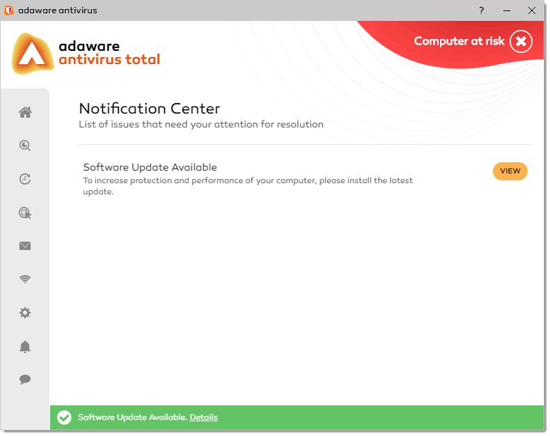 Software Available notification